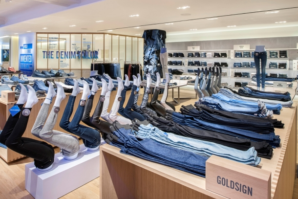 Selfridges denim studio Goldsign jeans collection