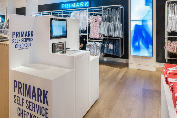 Selfridges denim studio Primark self service checkout