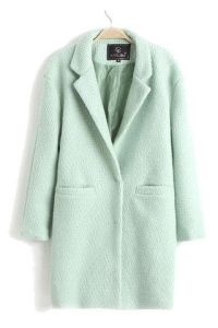 Minty Green Pea Coat by Goodnight Macaroon $75