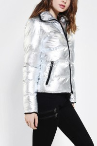 metallic jacket silver