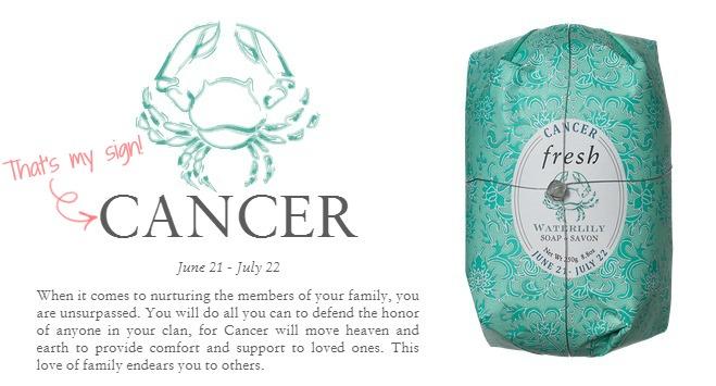 zodiac soap - cancer