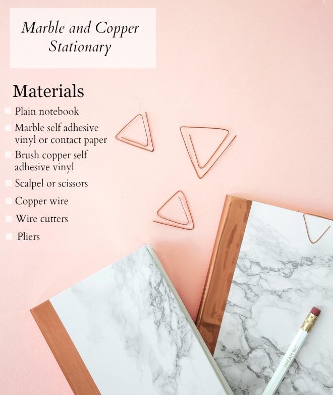 diy marble copper materials