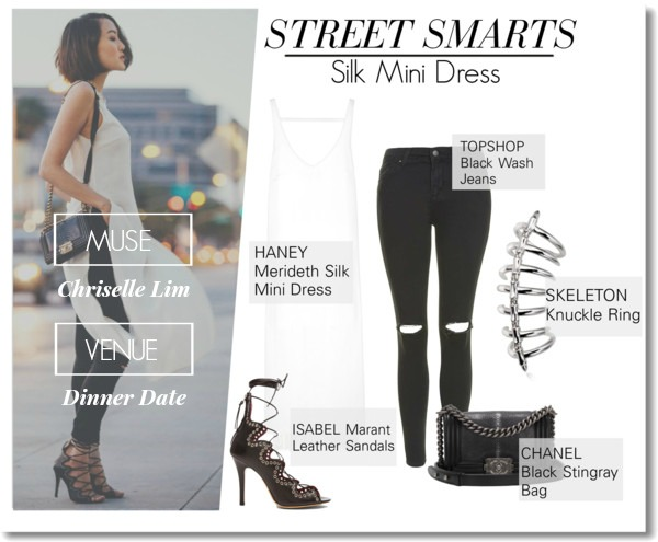 Street Smarts: Silk Mini Dress