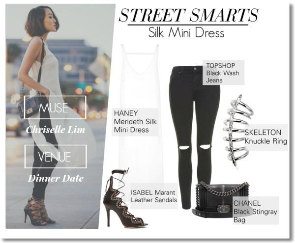 Street Smarts: Silk Mini Dress